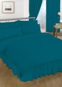 Double Valance sheet Teal Colour 18 Colours Available Plain Colour Valance Sheet