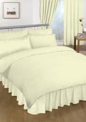 Double Valance sheet Cream Colour 18 Colours Available Plain Colour Valance Sheet