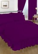 Double Valance sheet Plum Colour 18 Colours Available Plain Colour Valance Sheet