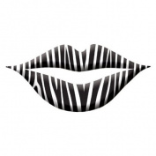 Trendy Zebra Print Lip Wraps