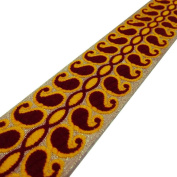 Metallic Gold Paisley Style Bridal Ribbon Trim Sari Border Crafting Lace India New 3 Yard