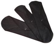 WillowPads Cloth Feminine Pad-Regular Black 3 pack [Health and Beauty]