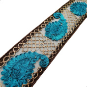 Royal Ribbon Net BaseTrim Floral Style Sari Border Apparel Sewing Craft Lace Craft 1 Yard