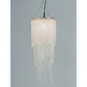 SPACY LAMP SHADE PEARL from XTRADEFACTORY retro lounge chandelier lampshade shimmer clear