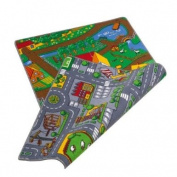 Childrens reversible Roadmap Farmlife Playmat Rug Bedroom Playroom Cars Animal Rugs