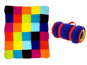 PT Gypsy Patchwork Fleece Rug, Assorted Colours