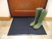 Machine Washable Blue Black Heavy Quality Non Slip Hard Wearing Barrier Mat. Available in 8 sizes