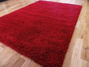 EXTRA LARGE RED MEDIUM NEW MODERN SOFT THICK SHAGGY RUGS NON SHED RUNNER MATS 120 X 170 CM (1.2m x 1.5m 7)FREE UK MAINLAND DELIVERY