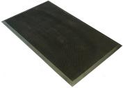 Fingertip heavy duty rubber doormat 60 x 100 cm for outside use. Colour black.