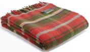 Dark Maple tartan pure new wool knee rug throw - British made - Tweedmill