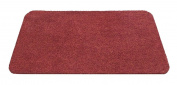 F & S Super Aqua-Stop robust doormat machine washable at 30 degrees, 50 x 80 cm. Colour red. Manufactured in Western Europe.
