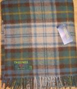 Antique Dress Gordon tartan pure new wool knee rug throw - British made - Tweedmill