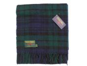 Black Watch tartan pure new wool knee rug throw