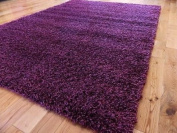 EXTRA LARGE PURPLE MEDIUM NEW MODERN SOFT THICK SHAGGY RUGS NON SHED RUNNER MATS 160 X 225 CM