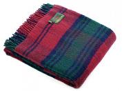 Lindsay tartan pure new wool knee rug throw- British made - Tweedmill