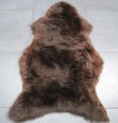 Genuine Sheepskin Rug RARE BREED Dark Brown