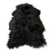 ICELANDIC SHEEPSKIN RUG NATURAL BLACK LARGE
