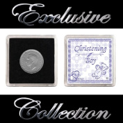 """LUCKY SIXPENCE FOR CHRISTENING """"BOY"""""""