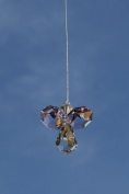 . Hanging Crystal Guardian Angel Birthstone Suncatcher JUNE - LIGHT AMETHYST