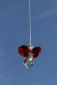 . Hanging Crystal Guardian Angel Birthstone Suncatcher JULY - RUBY
