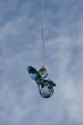 . Hanging Crystal Guardian Angel Birthstone Suncatcher DECEMBER - BLUE ZIRCON