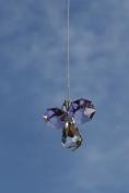 . Hanging Crystal Guardian Angel Birthstone Suncatcher OCTOBER - ROSE