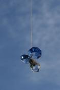 . Hanging Crystal Guardian Angel Birthstone Suncatcher SEPTEMBER - SAPPHIRE