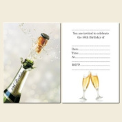 50th Birthday Invitations Postcard-Girls-Champagne Bottle - Pack of 10