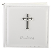 Beautiful White Amore Christening Photo Album. 250cm x 10cm x 15cm Pictures
