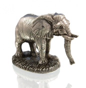 Sterling Silver African Elephant Figure. Silver Animal Figures.
