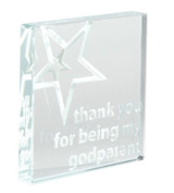 Spaceform Miniature Glass Token (Christening) Thank You For Being My Godparent