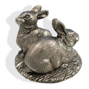 Sterling Silver Rabbit Figure. Silver Animal Figures.