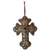 Embroidered Cross Christmas Tree Decoration