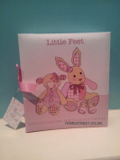 Little Feet Girls Pink Photo Album With Ribbon - Part of A Great Range Of Nursery Gifts