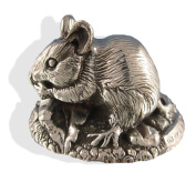 Sterling Silver FieldMouse Figure. Silver Animal Figures.