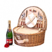 Westbury 2 Person Picnic Hamper Cooler Basket with Piper-Heidsieck Champagne Brut 75cl