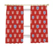 England Classic Curtains, 170cm x 140cm , Red