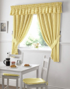 Gingham Kitchen Curtains Yellow 46 x 42