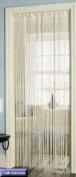 Retro Tassel Door Curtain Fly Insect Bug Screen Plain Cream String For Doorways