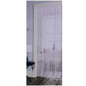 White String Door Curtain With Satin Effect Header 90 x 200cm