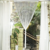 Fringe Window Divider Tassel Hanging String Door Curtain - White