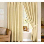 Dreams 'n' Drapes Java Cream Eyelet Lined Curtain 90x108
