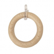 6 x Wooden Curtain Rings - Natural - 28mm