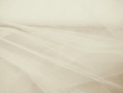 **300cm Wide** Ivory / Cream very fine Bridal Veiling Tulle Netting Fabric - per metre PRESTIGE FASHION UK LTD