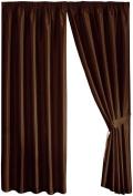 Dreams 'n' Drapes Java Chocolate Eyelet Lined Curtain 90x108