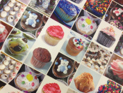 Delicious Cup Cakes, Muffins, Fairy cakes Tablecloth Shop Vinyl PVC Table protector Cover Tablecloth Width 140cm Price PER METRE Prestige Fashion UK Ltd