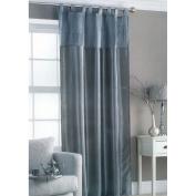 Embroidered Taffeta Curtain Panel Silver Sequin 145x228