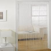 Majorca String Door Curtain Panel, White, 90 x 200 Cm