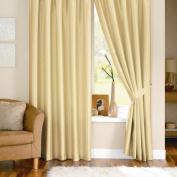 Dreams 'n' Drapes Java Cream Eyelet Lined Curtain 90x90
