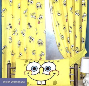 Spongebob Squarepants Expressions Curtains 180cm [Kitchen & Home]